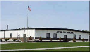 Die and mold tooling, EDM, high speed CNC, CNC machining, and high speed progressive dies by Action Tool, Inc.